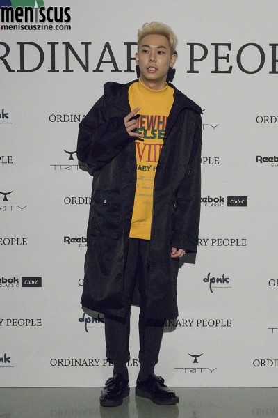 "The ""Somewhere Else"" sweatshirt that Loco is wearing is from the Ordinary People Spring 2016 collection retails for 88,000 KRW (about US$77.80). (photo by Yuan-Kwan Chan / Meniscus Magazine)"