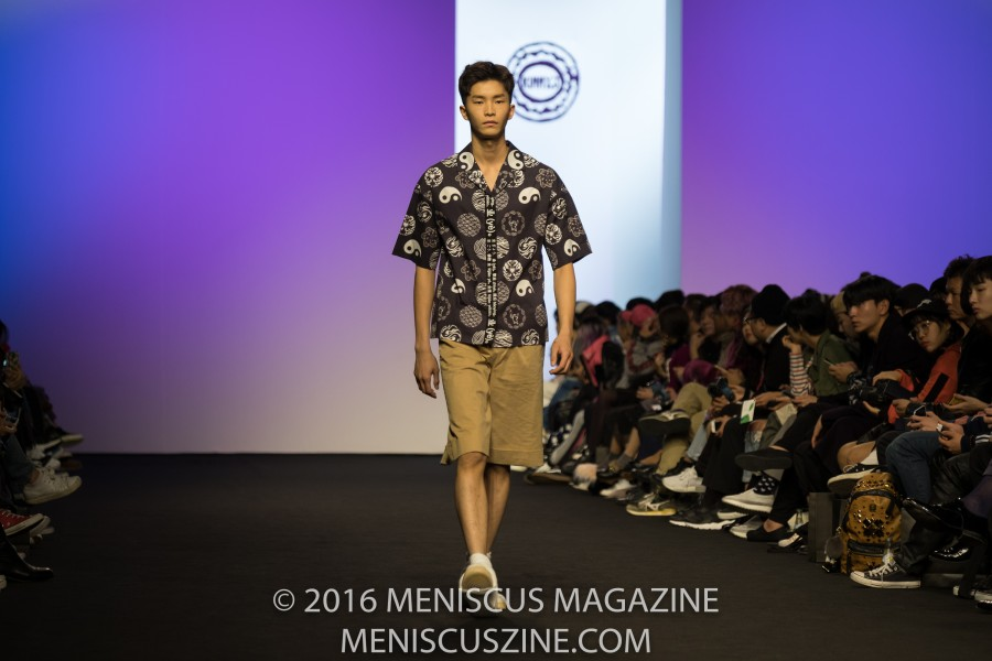 "For her KIMMY.J Spring 2017 collection, designer Heejin Kim wanted to combine two elements: ""old school hip-hop and 'retro vintage' patterns inspired by East Asian Culture,"" according to a statement issued by Concept Korea following New York Fashion Week in September. (photo by Ryan Bentley for Meniscus Magazine)"