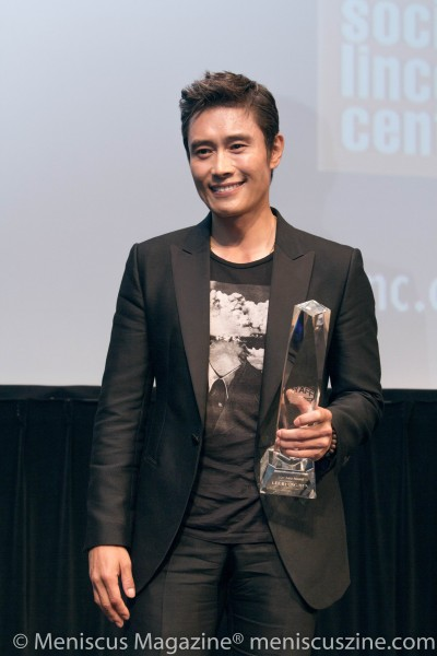 """In """"Inside Men,"""" Lee Byung-Hun stars as Ahn Sang-goo, the one-handed gangster seeking revenge on a seemingly insurmountable trio of institutions: the media, the government and the chaebol. He has deservedly won the most plaudits for his role, including Best Actor at the 2016 Asian Film Awards and PaekSang Arts Awards. (photo by Yanek Che / Meniscus Magazine)"""