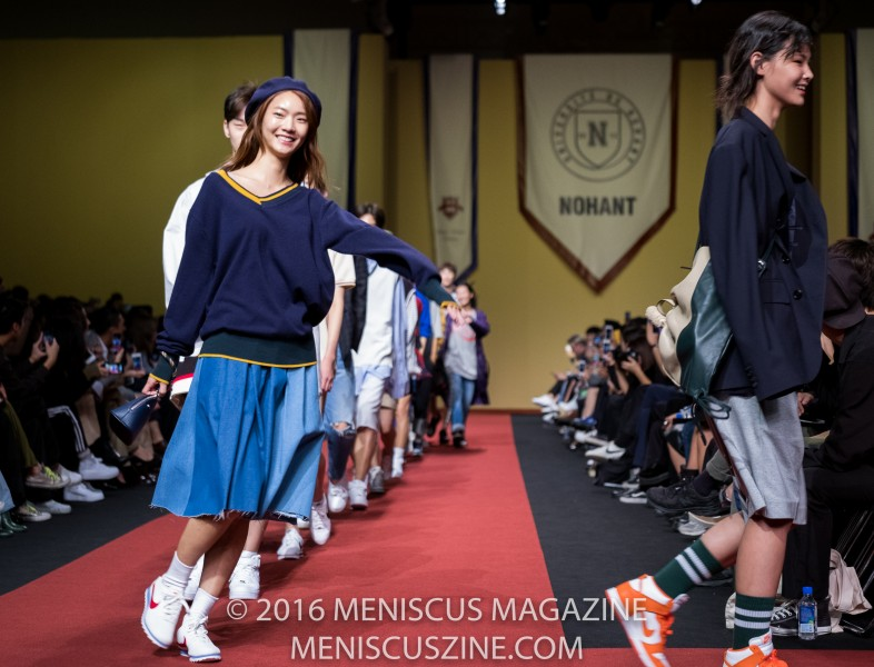 Models smile their way through the finale of the Nohant Spring 2017 collection. (photo by Ryan Bentley / Meniscus Magazine)