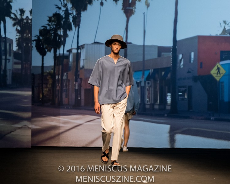 """Los Angeles - more specifically, Abbot Kinney Boulevard, the self-described """"Coolest Block in America"""" - inspired Ordinary People designer Jang  Hyeongcheol's Spring 2017 collection. Jang said in a statement issued by Seoul Fashion Week, """"I chose cool breathable fabrics so that consumers can layer them in various ways."""" (photo by Ryan Bentley / Meniscus Magazine)"""
