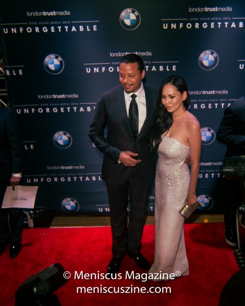 Terrence Howard with wife Mira Pak. (photo by Ali Zandi for Meniscus Magazine)