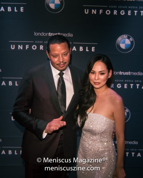 Terrence Howard with wife Mira Pak. (photo by Ali Zandi for Meniscus Magazine)