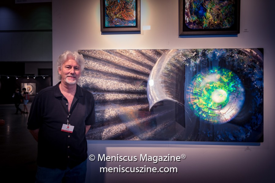 Artist Red Wolf at the 2017 LA Art Show. (photo by Ali Zandi / Meniscus Magazine)