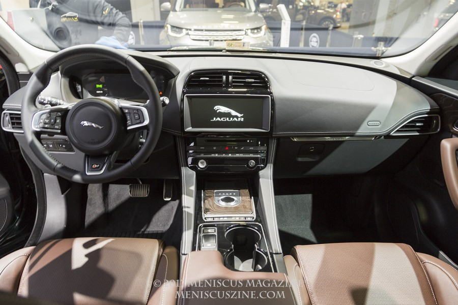 The interior of the Jaguar F-Pace. (photo by Kwai Chan / Meniscus Magazine)