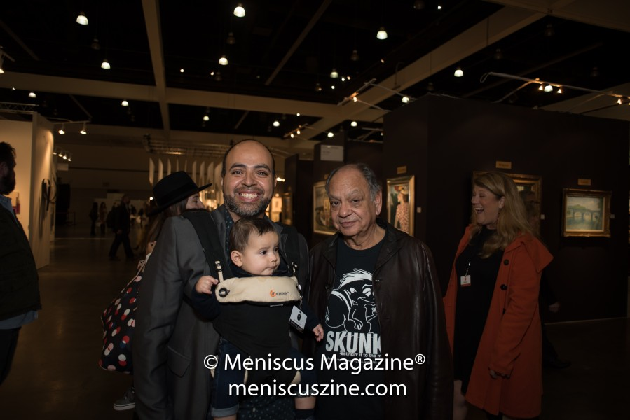 Cheech Marin (right), a member of the 2017 LA Art Show Host Committee. (photo by Ali Zandi / Meniscus Magazine)