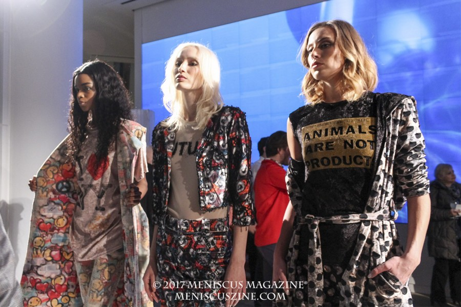 Daniel Barreira's designs for the Epson Digital Couture presentation at the New York Fashion Week Fall 2017 collections. (photo by Shelly Xu / Meniscus Magazine)