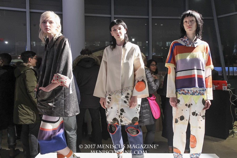 The Epson Digital Couture presentation featured 13 designers and teams from North and Latin America. Featured in this image are the designs of Degen, a New York-based knitwear label. (photo by Shelly Xu / Meniscus Magazine)