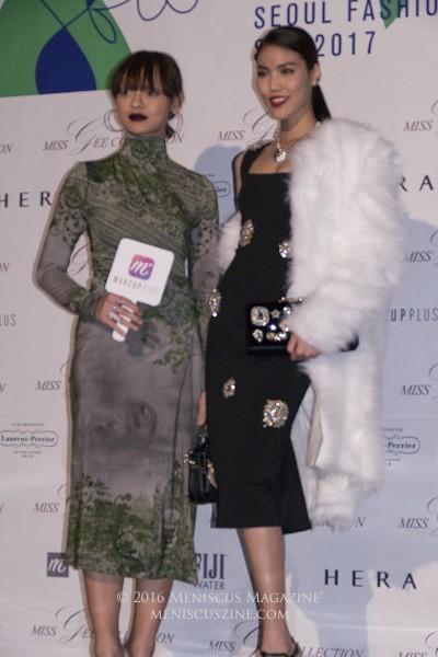 Vietnamese model Mai Ngo (Asia's Next Top Model Season 4) and Tran Ngoc Lan Khue, CEO of Elite Model Management in Saigon (Ho Chi Minh City). (photo by Yuan-Kwan Chan / Meniscus Magazine)