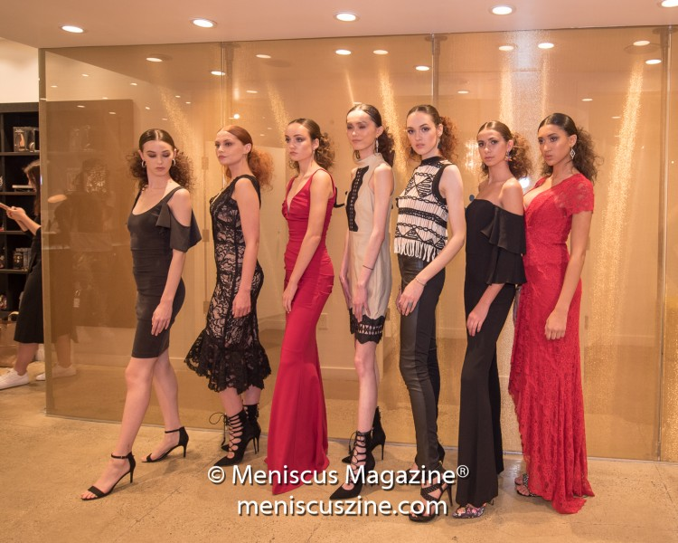 Benefiting the AIDS Healthcare Foundation, the Nicole Miller boutique on Sunset Boulevard held a charity capsule fashion presentation as part of the Art Hearts Fashion series of events at the Los Angeles Fashion Week Fall 2017 collections. (photo by Ali Zandi / Meniscus Magazine)