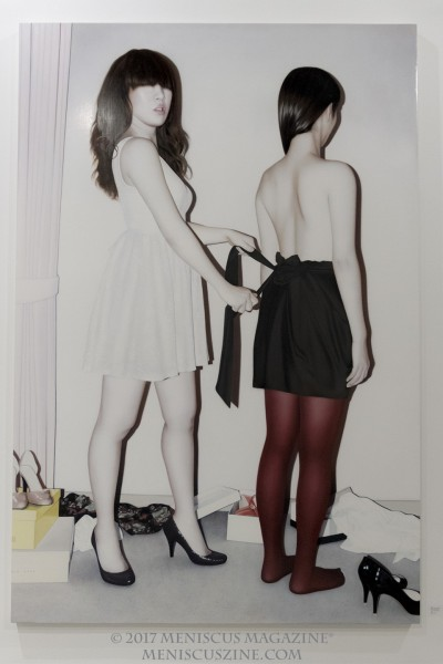 Artist: Sai Hashizume Toilette des filles 2 (2012) Oil on emulsionground 194 x 130.3 cm (photo by Yuan-Kwan Chan / Meniscus Magazine)