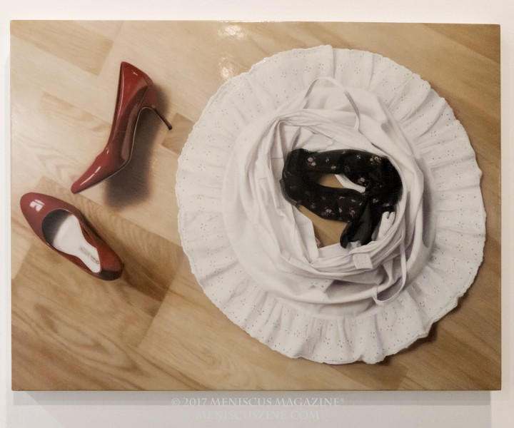 Artist: Sai Hashizume Red Shoes Diary (Berlin #1) (2008) Oil on wood panel 60 x 80 cm (photo by Yuan-Kwan Chan / Meniscus Magazine)