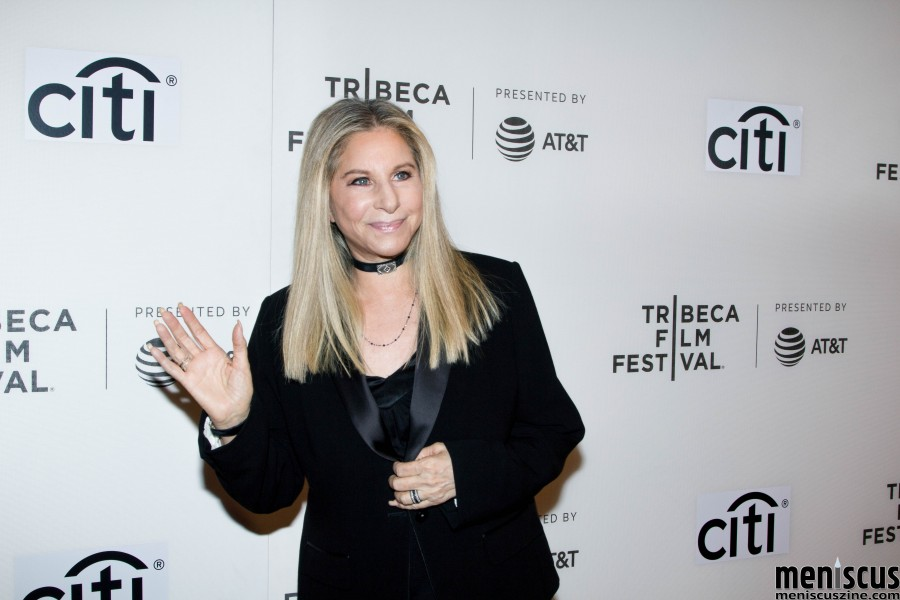 "Barbra Streisand on the red carpet prior to her Tribeca Talks: Storytellers panel with director Robert Rodriguez on Apr. 29 at the BMCC Tribeca Performing Arts Center. At the panel, the singer said, ""People would say, 'How do you hold the notes so long?,' and I said, 'Because I want to.'"" (photo by Yanek Che / Meniscus Magazine)"