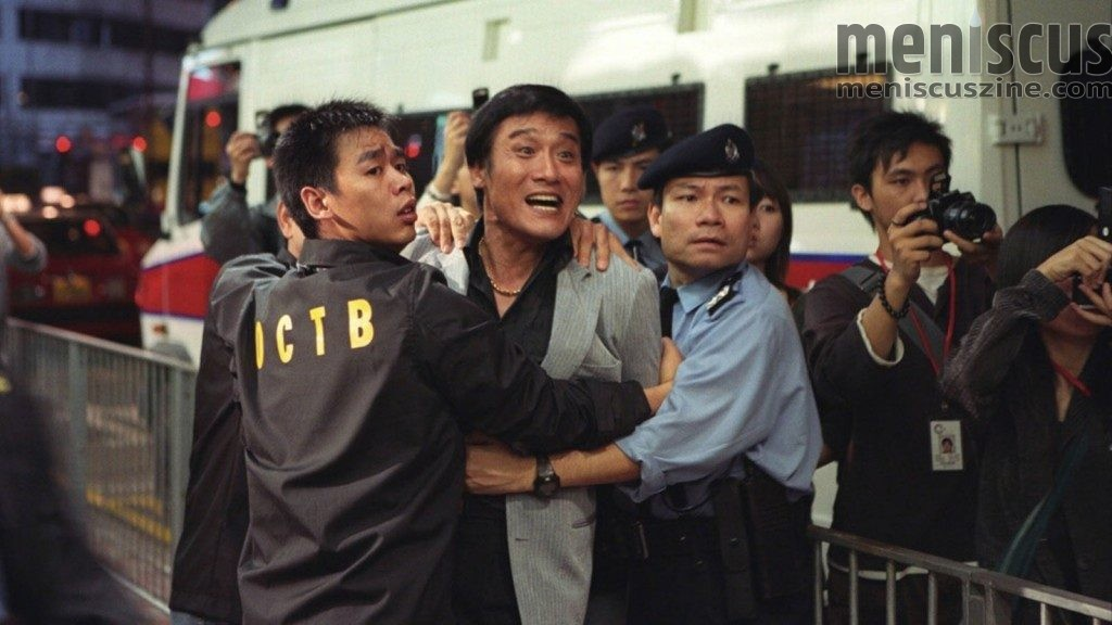 "Tony Leung Ka-fai (center) in Johnnie To's ""Election,"" (still courtesy of the Film Society of Lincoln Center)"