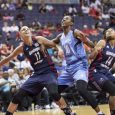 Foul shots by Elena Delle Donne and Shatori Walker-Kimbrough saved the Washington Mystics, who improved their record to 5-2.