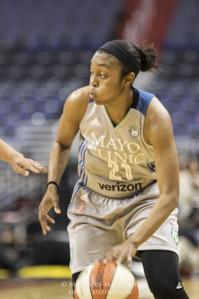 Minnesota Lynx guard Renee Montgomery. (photo by Kwai Chan / Meniscus Magazine)