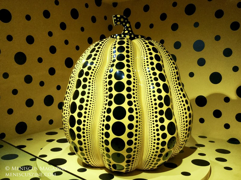 Yayoi Kusama's Pumpkin in Gallery 3 of the Bonte Museum in Jeju, South Korea. (photo by Yuan-Kwan Chan / Meniscus Magazine)