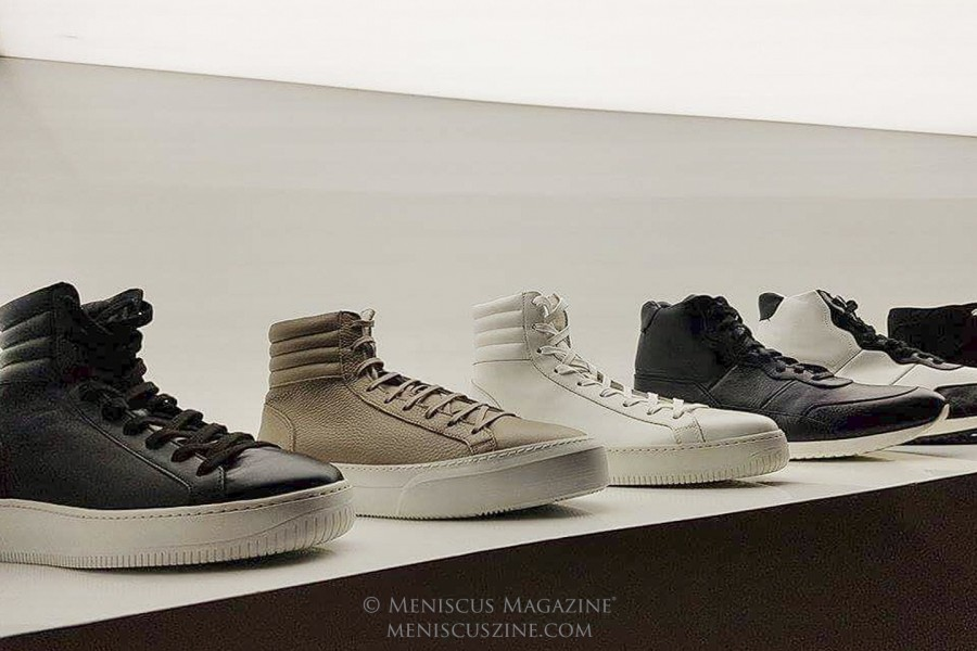 Created by a Chinese American who resides in Tokyo, FACTO is a luxury sneaker label that has quickly made waves. The shoes are manufactured in Italy. (photo by Rex Baylon / Meniscus Magazine)