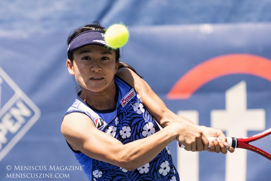 Shuko Aoyama has now won four Citi Open women's doubles titles. (photo by Kwai Chan / Meniscus Magazine)