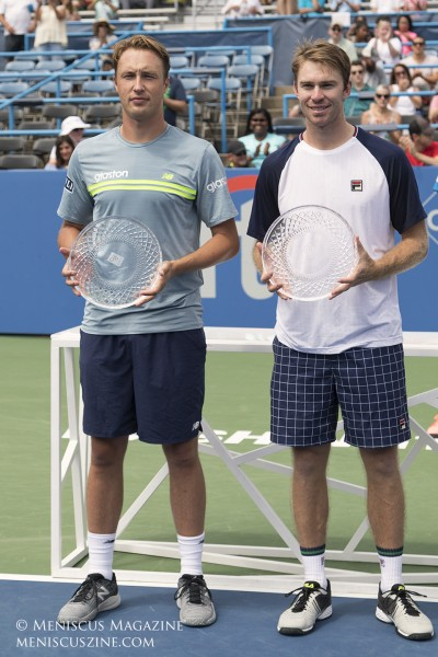 The 2017 Citi Open was the 15th ATP men's doubles title for Henri Kontinen (left) and the 13th for John Peers (right). (photo by Kwai Chan / Meniscus Magazine)