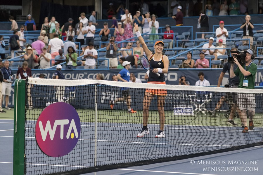 Ekaterina Makarova won her first WTA singles title in three years at the 2017 Citi Open. (photo by Kwai Chan / Meniscus Magazine)