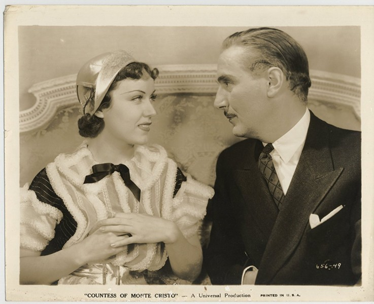 "Fay Wray (left) and Paul Lukas in ""The Countess of Monte Cristo."" (still from IMDB)"