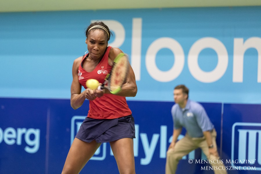 Venus Williams in action against the Springfield Lasers in Washington, D.C. (photo by Kwai Chan / Meniscus Magazine)