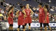 After the leak was temporarily fixed, theMystics (16-10) continued their winning formula, beating the Indiana Fever (9-19), 100-80.