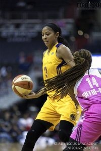 Candace Parker led all Sparks scorers with 21 points. (photo by Kwai Chan / Meniscus Magazine)