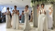 To be a Julie Vino 2018 bride, one must be very confident - make that, extremely confident - to show off Vino's boldly elegant Cuba-inspired gowns.