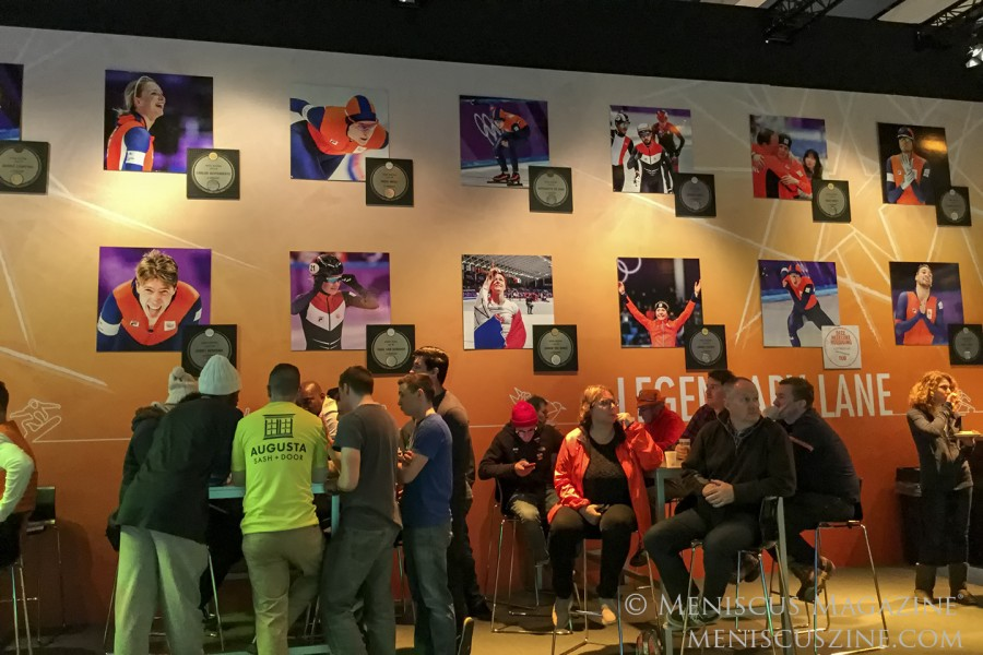 The Wall of Fame for past Dutch Olympians at the Holland Heineken House in Gangneung, South Korea. (photo by Yuan-Kwan Chan / Meniscus Magazine)