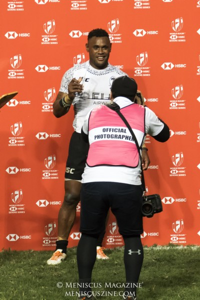 Amenoni Nasilasila, who led Team Fiji with nine points, after being named the HSBC Player of the Final in Hong Kong. (photo by Yuan-Kwan Chan / Meniscus Magazine)