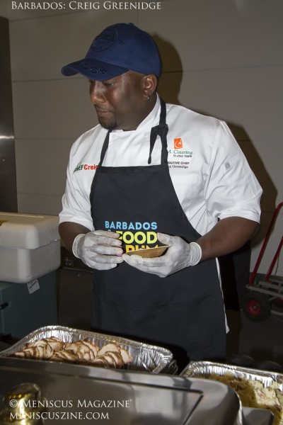 Barbados Chef Creig Greenidge, who co-created this year's Best Beverage winner with mixologist Philip Antoine. (photo by Kwai Chan / Meniscus Magazine)