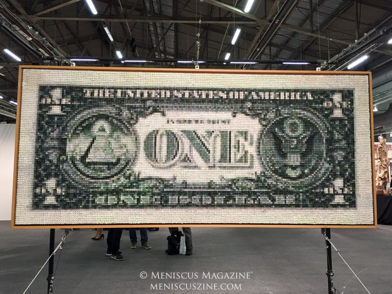 "Artist: Stone ""One Buck"" Oil mosaic on canvas (photo by Megan Lee / Meniscus Magazine)"
