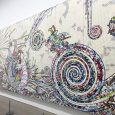 Takashi Murakami's solo exhibit at the Perrotin Gallery is an unexpected treat that displays his signature murals, newer pieces and larger-than-life panels.