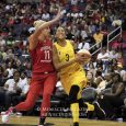 The Los Angeles Sparks' Candace Parker was the game's high scorer with 23 points. She also tied her career-high in assists with 11.