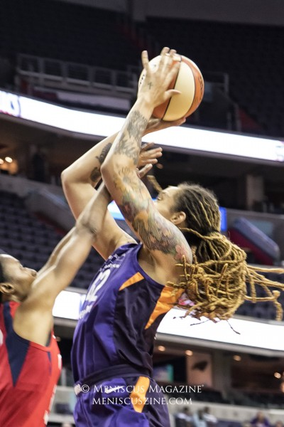 Brittney Griner led all Mercury scorers with 24 points. (photo by Kwai Chan / Meniscus Magazine)