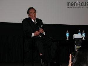 """Actor James Shigeta at a 2007 screening of """"The Crimson Kimono"""" at NYU. (photo by Yuan-Kwan Chan / Meniscus Magazine)"""