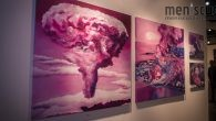 """A selection from Mika Revell's """"Unnatural Disasters 2015 - 2017"""" series displayed at the 2017 LA Art Show featured depictions of Fukushima and Hiroshima."""
