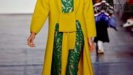 Unlike the typical spring fashion palette, Lan Yu included a color scheme including more robust shades such as scarlet, emerald green, cobalt and mustard.