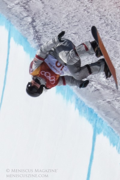 The Winter Games in Pyeongchang marked Chloe Kim's Olympic debut - in 2014, at age 13, she was too young to compete in Sochi. (photo by Yuan-Kwan Chan / Meniscus Magazine)