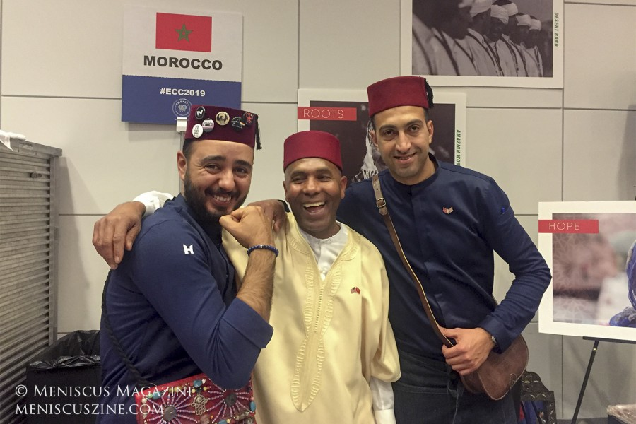 Chef Faycal Zahraoui (left), Morocco, Seafood Pastila with Smoked Potatoes, won second place on the People's Choice Podium. (photo by Megan Lee / Meniscus Magazine)