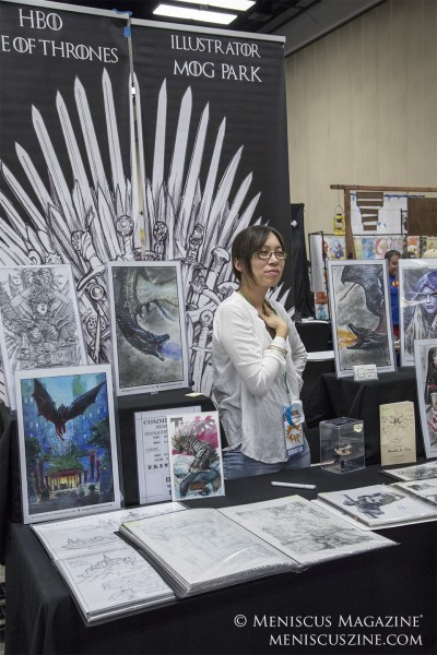 "Mog Park, illustrator for HBO's ""Game of Thrones."" (photo by Kwai Chan / Meniscus Magazine)"