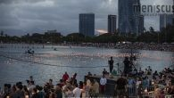 On Memorial Day, some 7,000 lanterns floated along the Ala Moana Beach in a magnificent display to pay respects to the fallen and loved ones.