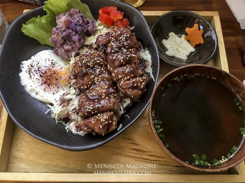 The Premium Ryukyu Teriyaki set at Wa Cafe Nodoka. (photo by Yuan-Kwan Chan / Meniscus Magazine)