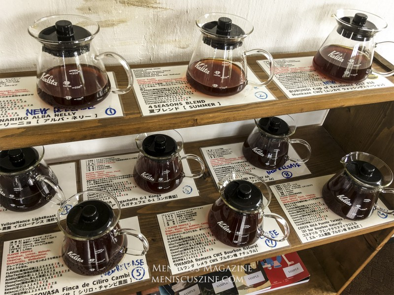 Visitors can sample a number of different beverages from across the world at Okinawa Cerrado Coffee. (photo by Yuan-Kwan Chan / Meniscus Magazine)