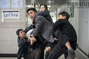 "Will the ""Extreme Job"" crew succeed in their undercover operation? (still courtesy of the Busan International Film Festival)"