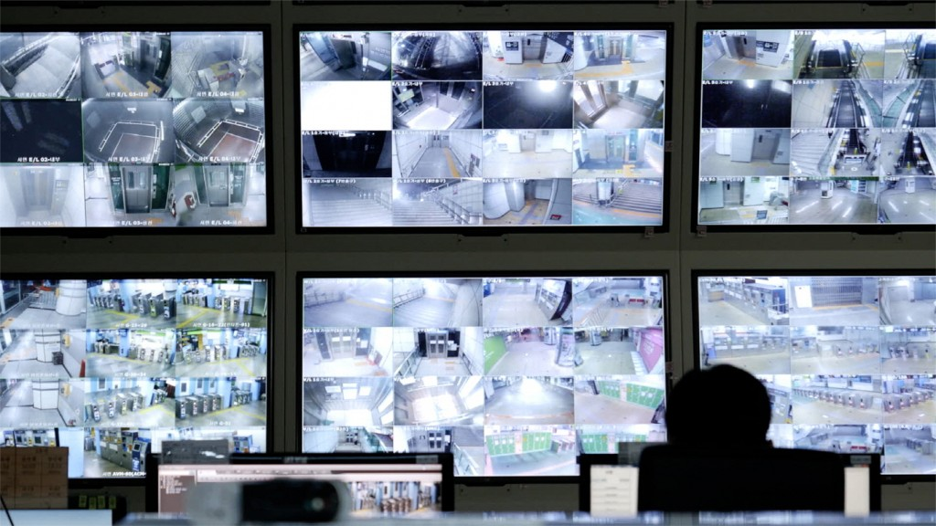 "Monitoring every nook and cranny of a Busan Metro station via CCTV in the documentary ""Underground."" (still courtesy of the Busan International Film Festival)"