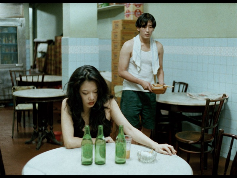 "Michelle Goh (left) and Joe Ng in ""Mee Pok Man."" (still courtesy of the Busan International Film Festival)"