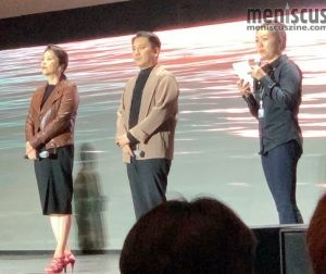 Jang Hye-jin (left) and Park Myung-hoon (center) at the Busan Cinema Center on Oct. 7, 2019. (photo by Wade-Hahn Chan / Meniscus Magazine)